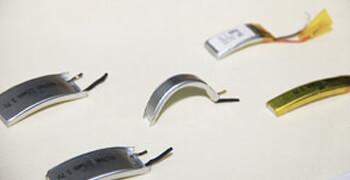 Curved li polymer battery