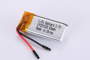Li Polymer Battery LP251328 3.7V 65mAh with PCM, with wires