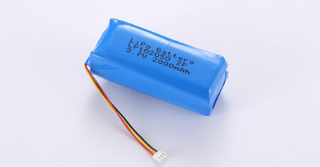 2P1S Li Polymer Battery LP102050 3.7V 2000mAh with connector and NTC