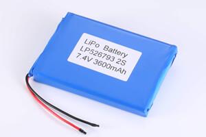 2S1P Li Polymer Battery LP526793 7.4V 3600mAh