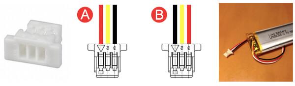 Battery Connector JST SHR-03V-S-B