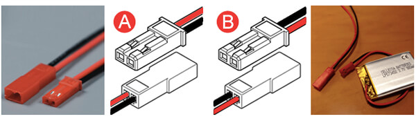 Battery Connector JST SYR-02T:02TY & SYP-02T:02TV-1