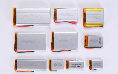 3.7V Li Polymer Battery Thickness From 0.4mm to 1.9mm
