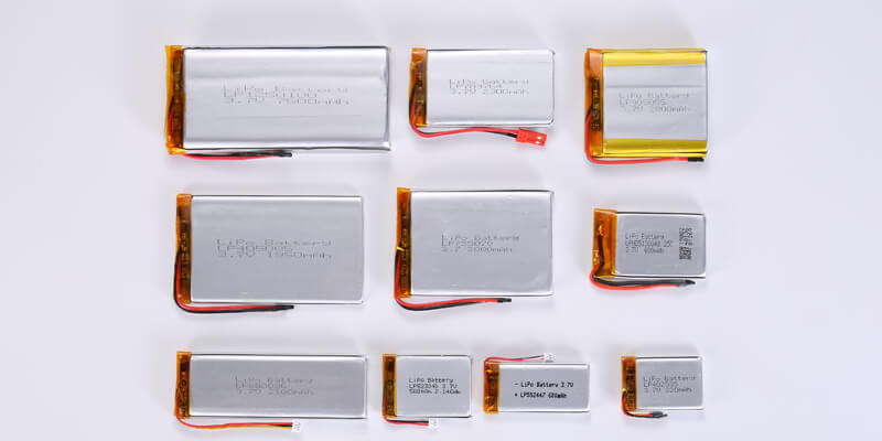 Battery Thickness from 0.4mm to 1.9mm