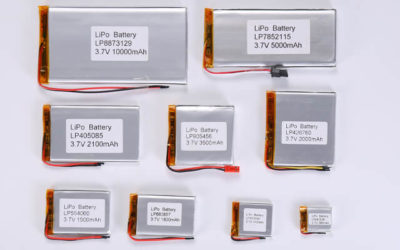 3.7V Li Polymer Battery Thickness From 6.0mm to 6.9mm