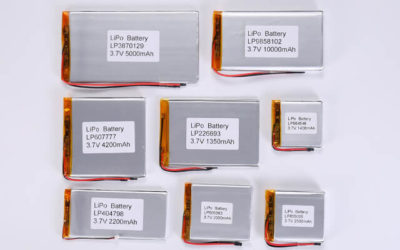3.7V Li Polymer Battery Thickness From 7.0mm to 7.9mm