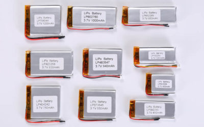 3.7V Li Polymer Battery Thickness From 9.0mm to 9.9mm