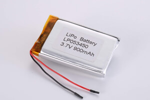 Li Polymer Battery LP053450 3.7V 900mAh with protection circuitand wires