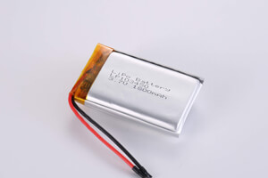 Li Polymer Battery LP103450 3.7V 1800mAh with protection circuit and wires