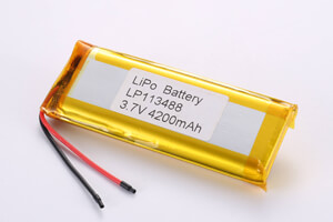 Li Polymer Battery LP113488 3.7V 4200mAh with protection circuit and wires