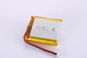 Li Polymer Battery LP114545 3.7V 1700mAh with protection circuit, wires and connector