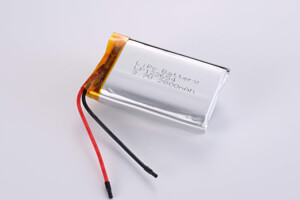 Li Polymer Battery LP123654 3.7V 2800mAh with protection circuit and wires