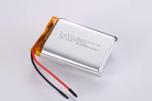 Li Polymer Battery LP124053 3.7V 2900mAh with protection circuit and wires
