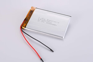 Li Polymer Battery LP284362 3.7V 800mAh with protection circuit and wires
