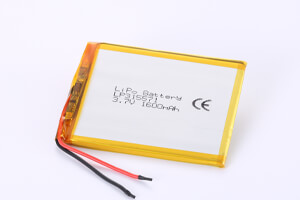 Li Polymer Battery LP315571 3.7V 1600mAh with protection circuit and wires
