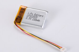 Li Polymer Battery LP322025 3.7V 130mAh with PCM, NTC, wires, connector