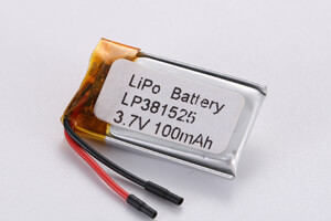 Li Polymer Battery LP381525 with PCM, Tab, and wires