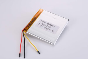 Li Polymer Battery LP426760 3.7V 2000mAh with protection circuit and NTC