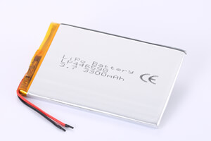 Li Polymer Battery LP446598 3.7V 3300mAh with protection circuit and wires