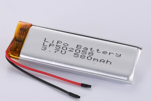 Li Polymer Battery LP502058 3.7V 580mAh wth protection circuit and wires