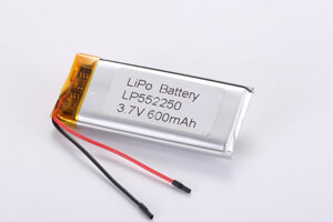 Li Polymer Battery LP552250 3.7V 600mAh with protecion circuit and wires