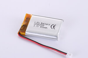 Li Polymer Battery LP552535 3.7V 450mAh with protection circuit and wiresLi Polymer Battery LP552535 3.7V 450mAh with protection circuit and wires