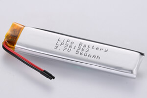 Li Polymer Battery LP561563 3.7V 560mAh with protection circuit and wires