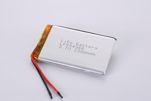 Li Polymer Battery LP594368 3.7V 2300mAh with protection circuit and wires