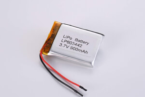 Li Polymer Battery LP603442 3.7V 900mAh with protection circuit and wires