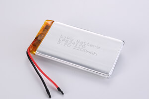 Li Polymer Battery LP624170 3.7V 2200mAh with protection circuit and wires