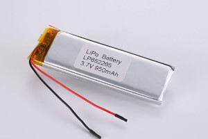 Li Polymer Battery LP652265 3.7V 950mAh with protection circuit and wires