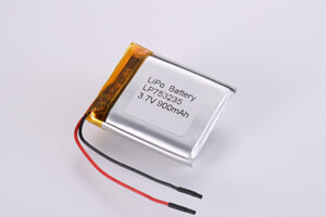 Li Polymer Battery LP753235 3.7V 900mAh with protection circuit and wires