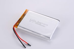 Li Polymer Battery LP755070 3.7V 3000mAh with protection circuit and wires