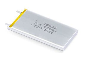 Li Polymer Battery LP7865125 3.7V 8000mAh without protection circuit, without wires