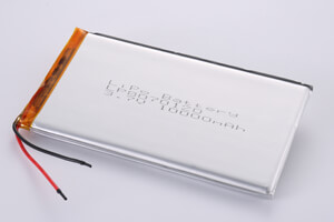 Li Polymer Battery LP8070120 3.7V 10000mAh with protection circuit and wires