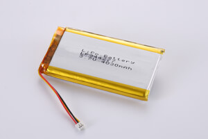 Li Polymer Battery LP944277 3.7V 4030mAh with protection circuit, NTC, wires, and connector
