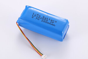 Li Polymer Battery Pack LP102050 2P 3.7V 2000mAh with NTC and connector