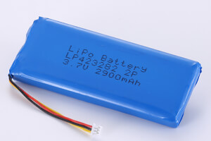 Li Polymer Battery Pack LP423282 2P 3.7V 2800mAh with NTC and connector
