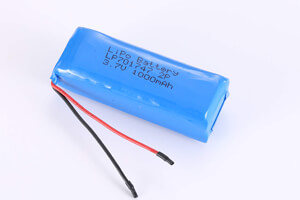 Li Polymer Battery Pack LP701747 2P 3.7V 1000mAh
