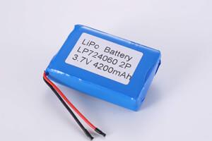 Li Polymer Battery Pack LP724060 2P 3.7V 4200mAh
