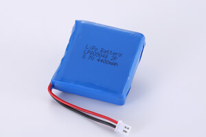 Li Polymer Battery Pack LP805048 2P 3.7V 4400mAh with connector