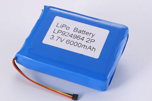 Li Polymer Battery Pack LP924964 2P 3.7V 6000mAh with NTC and connector
