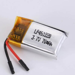 LP451220 3.7V 70mAh with protection circuit and wires