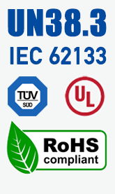 UN38.3-IEC62133-UL-RoHS certification