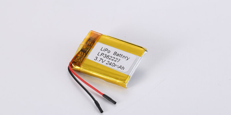 LP362227 3.7V 240mAh with protection circuit and wires