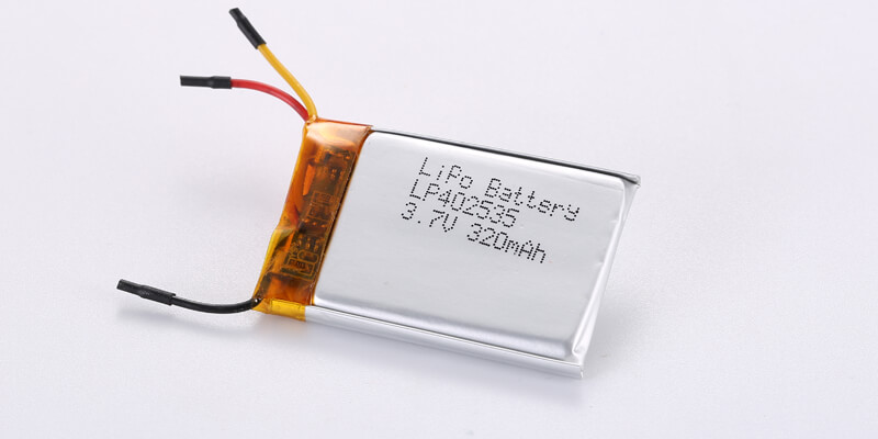 LP402535 3.7V 320mAh with COM,NTC,Wires-1