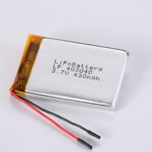 LP403040 3.7V 430mAh with protection circuit and wires