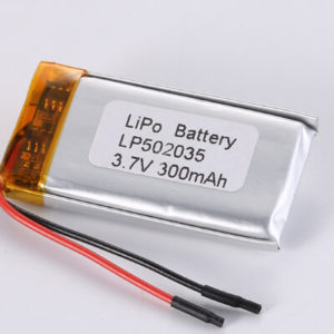 LP502035 3.7V 300mAh with protection circuit and wires