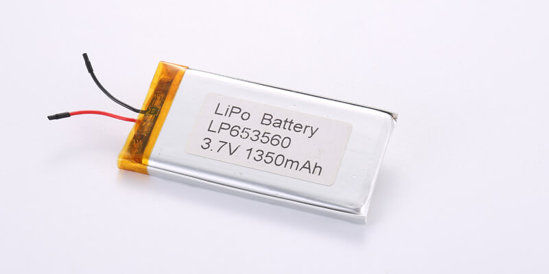 LP653560 3.7V 1350mAh with protection circuit and wires