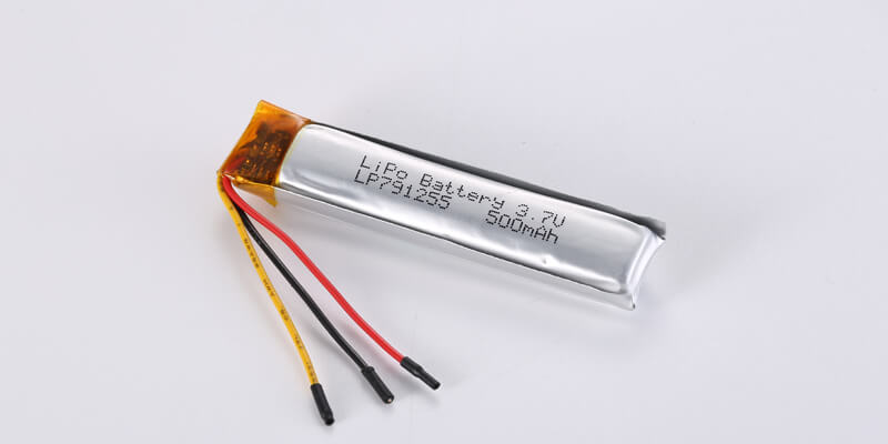 LP791255 3.7V 500mAh with PCM, NTC, Connector